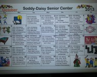 Senior Center October Schedule