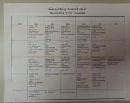 Soddy-Daisy Senior Center December 2013 Calendar