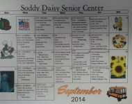 Soddy-Daisy Senior Center September 2014 Calendar